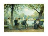 In the Public Gardens  Boston  1904