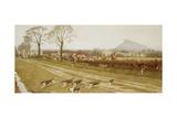 The Cheshire - Away from Tattenhall  1912