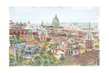 Rome  Overview from the Borghese Gardens  2013