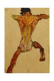 Male Nude Seen from Back; Mannlicher Ruckenakt  1910