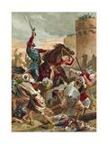 El Cid Threatening the City of Valencia