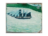 Ship and Lighthouse  c1925