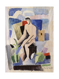 Man in the Country  Study for Paludes; Homme Dans Un Paysage  Etude Pour Paludes  c1920