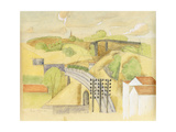 Study for the Meulan Viaduct; Etude Pour Le Viaduc de Meulan  1912