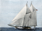 """Yacht """"America """" First Winner of the America's Cup Race  in a Later Rig"""