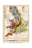 Geological Map of England and Wales Giclée