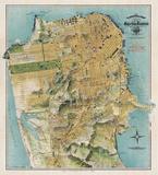 Map of San Francisco, California, 1912 Reproduction d'art par August Chevalier