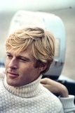 The Way We Were  Robert Redford  Directed by Sydney Pollack on the Set  1973