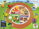 Active Kids MyPlate Laminated Educational Poster