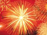 Full Frame of Exploding Fireworks
