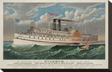 "The Grand New Steamboat ""Pilgrim""  c 1883"