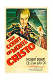THE COUNT OF MONTE CRISTO  Robert Donat on US psoter art  1934