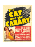 THE CAT AND THE CANARY  from left: Paulette Goddard  Bob Hope on window card  1939