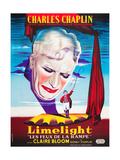 LIMELIGHT (aka LIMELIGHT LES FEUX DE LA RAMPE)  French poster art  Charles Chaplin  1952