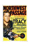 NORTHWEST PASSAGE  left: Spencer Tracy on midget window card  1940