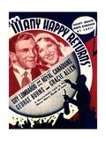 MANY HAPPY RETURNS  US ad art  from left: George Burns  Gracie Allen  Guy Lombardo  1934