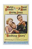 Bed Time Story  US poster  Shirley Jones  Marlon Brando  David Niven  1964