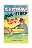 THE DUCK DOCTOR  left: Jerry  right: Tom on poster art  1952