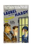 PARDON US  poster art  from left: Oliver Hardy  Stan Laurel [Laurel and Hardy]  1931