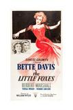 THE LITTLE FOXES  l-r: Teresa Wright  Herbert Marshall  Bette Davis on poster art  1941
