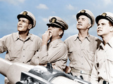 MISTER ROBERTS  from left: Henry Fonda  James Cagney  William Powell  Jack Lemmon  1955