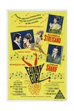 Funny Girl  Australian poster  Barbra Streisand  Omar Sharif  1968