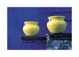 Yellow Pots  Blue Wall