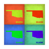 Oklahoma Pop Art Map 1