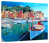 'Tranquility of the Harbour of Portofino' Gallery-Wrapped Canvas