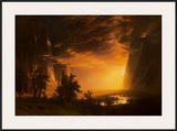 Sunset in the Yosemite Valley  1868