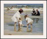 Children Playing at the Seashore
