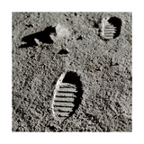 Astronaut Footprints on the Moon