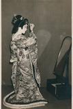 A Woman Dressed in a Kimono