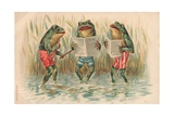 Three Frogs Singing