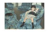 Little Girl in a Blue Armchair  1878