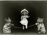 Kittens and a Doll Skipping  1891
