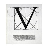 V  Illustration from 'Divina Proportione' by Luca Pacioli (C1445-1517)  Originally Pub Venice …