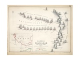 Map of the Battle of Trafalgar  Published by William Blackwood and Sons  Edinburgh and London  1848