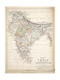 Map of India  Published by William Blackwood and Sons  Edinburgh and London  1848