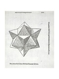 Hexaedron Abscisum Elevatum Solidum  Illustration from 'Divina Proportione' by Luca Pacioli…