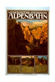 Poster for the Niederösterr-Steirische Alpenbahn