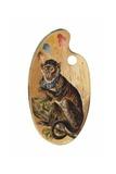 Monkey on Paint Palette