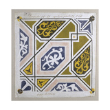 Catalan Modernism Original Desing of Tile for the Decoration of the Guell Palace Artist Antoni…