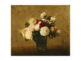 Roses in a Glass Vase; Roses Dans Un Vase De Verre