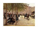 A Paris Street; Une Avenue Parisienne  C1880