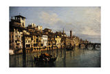 Bernardo Bellotto (1721-1780) The River Arno in Florence  1742