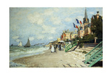 The Beach at Trouville; La Plage a Trouville  1870