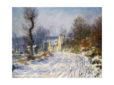 Road to Giverny in Winter; Route De Giverny En Hiver  1885
