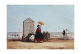 On the Beach at Trouville; Sur La Plage De Trouville  1865