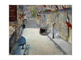 Flags in Mosnier Street; La Rue Mosnier Aux Drapeaux  1878